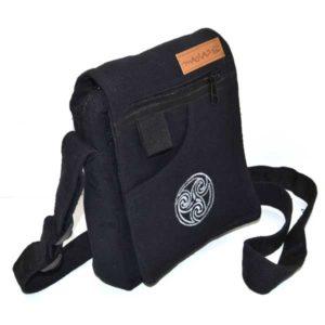 pochette noire en coton
