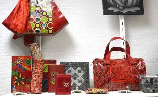 maroquinerie sac a main cuir et coton