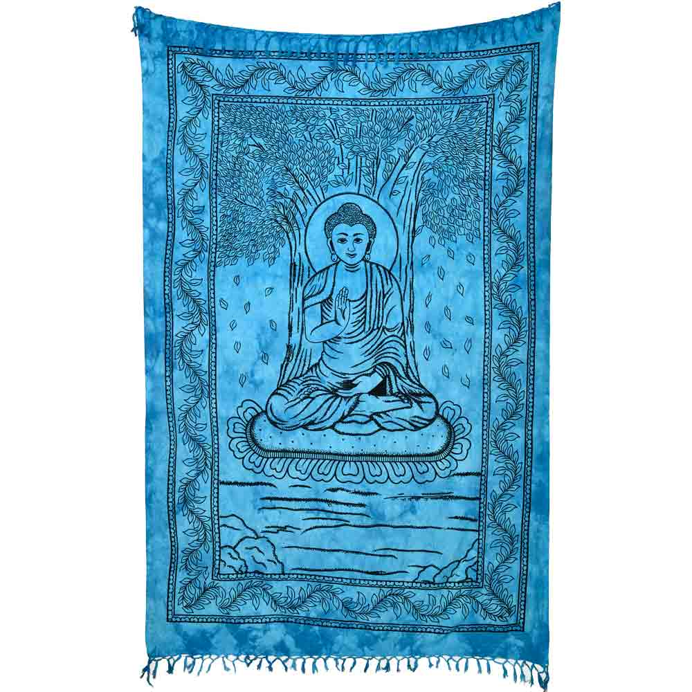 bouddha assis couleur turquoise