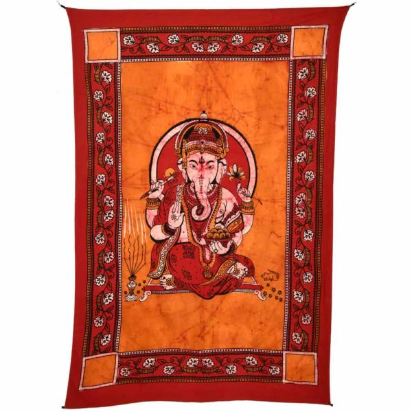 tenture encadree ganesh orange
