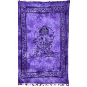 tenture avec ganesh sur fond violet